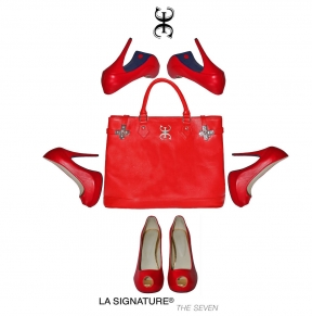 05 LA SIGNATURE - HAND BAGS - THE SEVEN RED