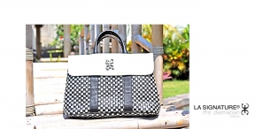 15 LA SIGNATURE - HAND BAGS - THE DALMATIAN CLASSIC BLACK & WHITE