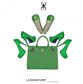 03 LA SIGNATURE - HAND BAGS - THE SEVEN GREEN